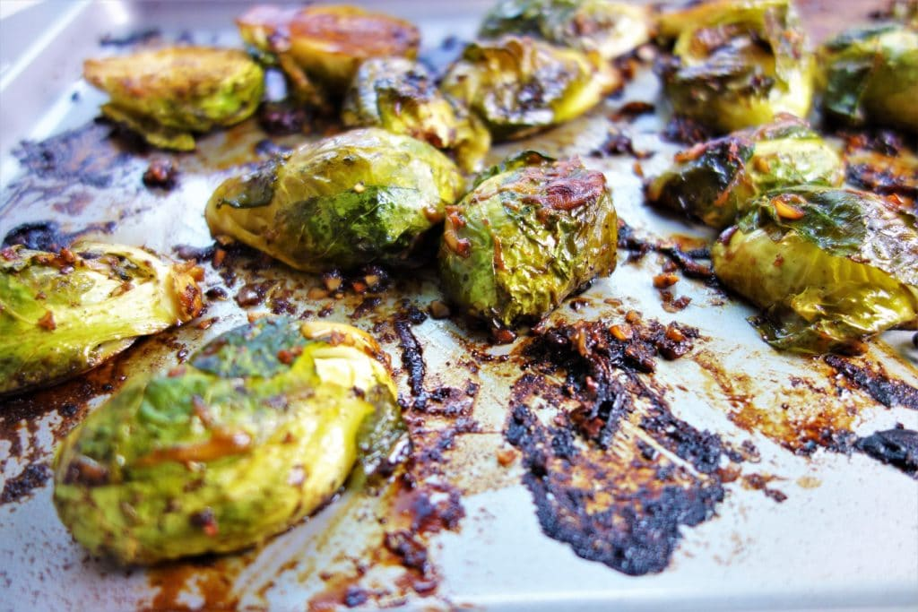 Balsamic and Parmesan Roasted Brussels Sprouts