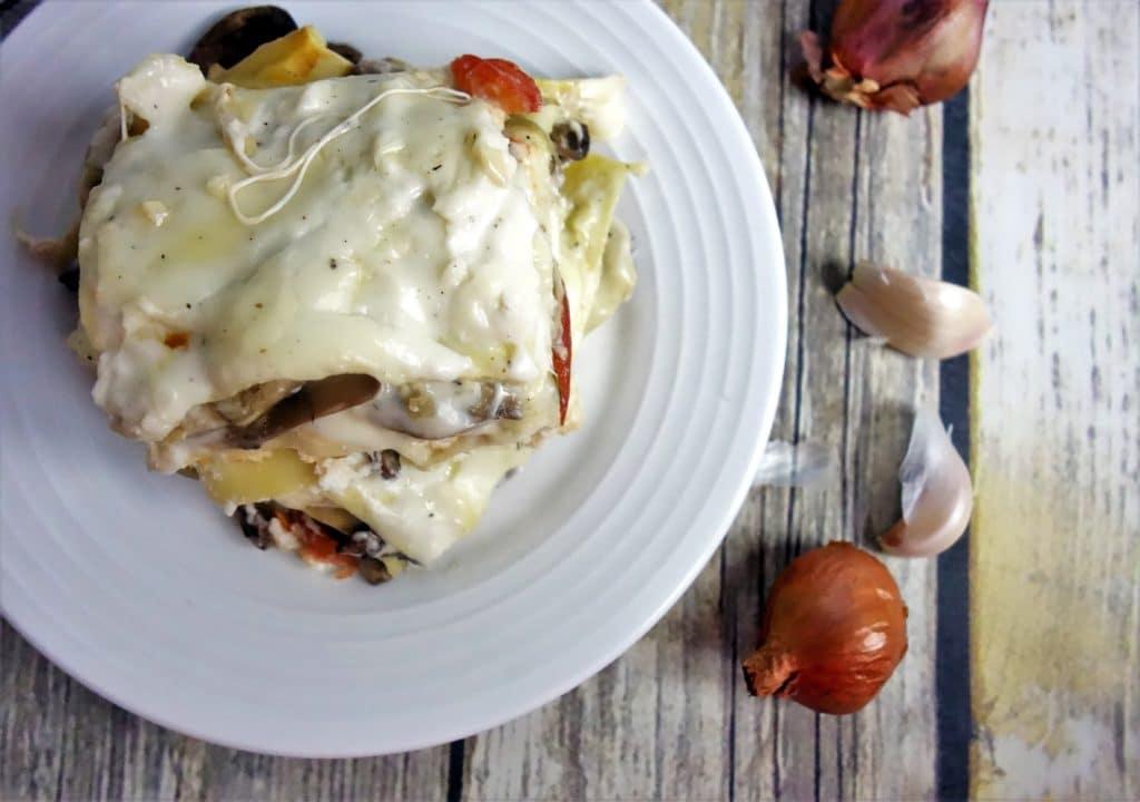 Mushroom Lasagna with Bechamel Sauce