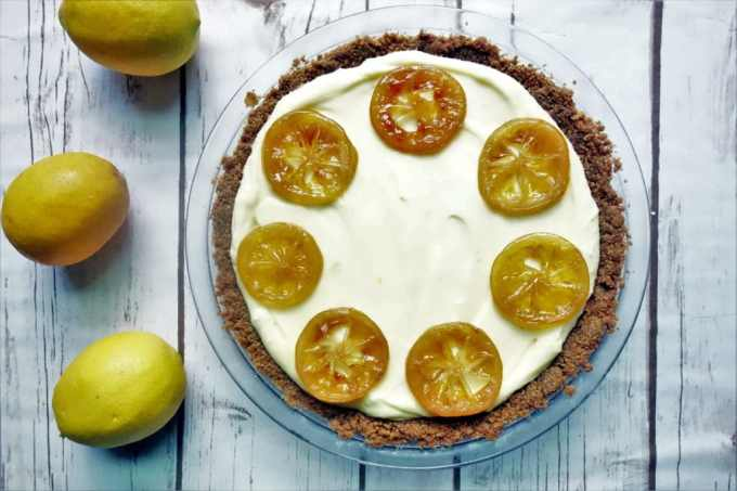Creamy Lemon Chiffon Pie - Fresh Homemade Desserts