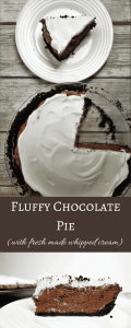 Amazingly Decadent Fluffy Chocolate Pie