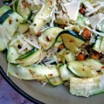 Fresh Zucchini Salad with Toasted Chickpeas and Parmesan Cheese