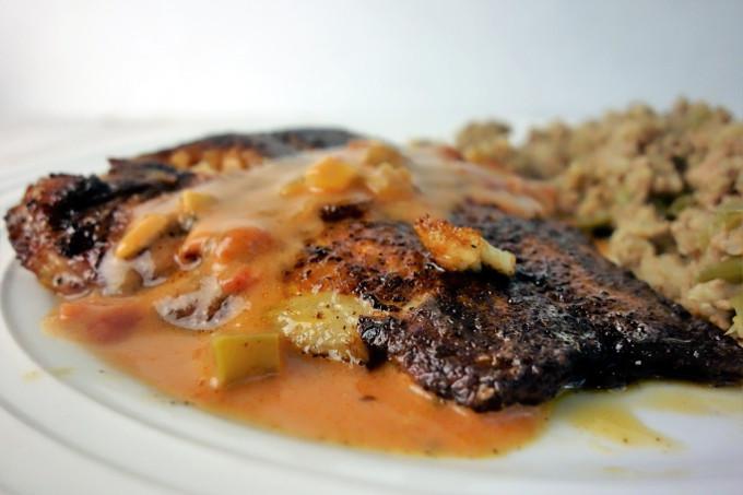 Easy to make Cajun style Blackened Catfish