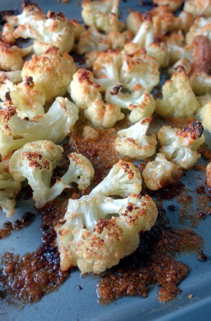 Coconut Oil Roasted Parmesan Cauliflower