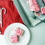 Peppermint Cheesecake Bars with Oreo Crust