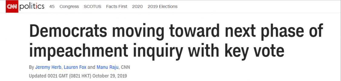彈劾特朗普邁入下個階段:眾議院將對彈劾程序進行投票(圖)