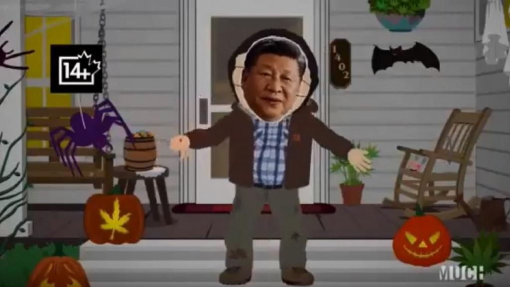 """南方四贱客又""""犯贱"""":戴着习近平面具跳舞(图)"""
