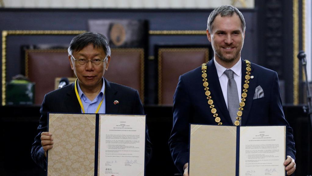 放弃北京的布拉格 与台北签署协议缔结为姊妹市(图)