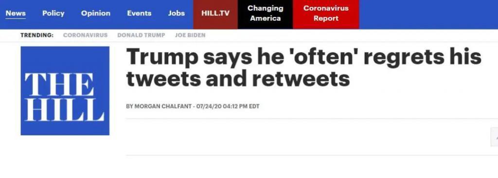 """""""经常,太经常了""""……特朗普承认了"""