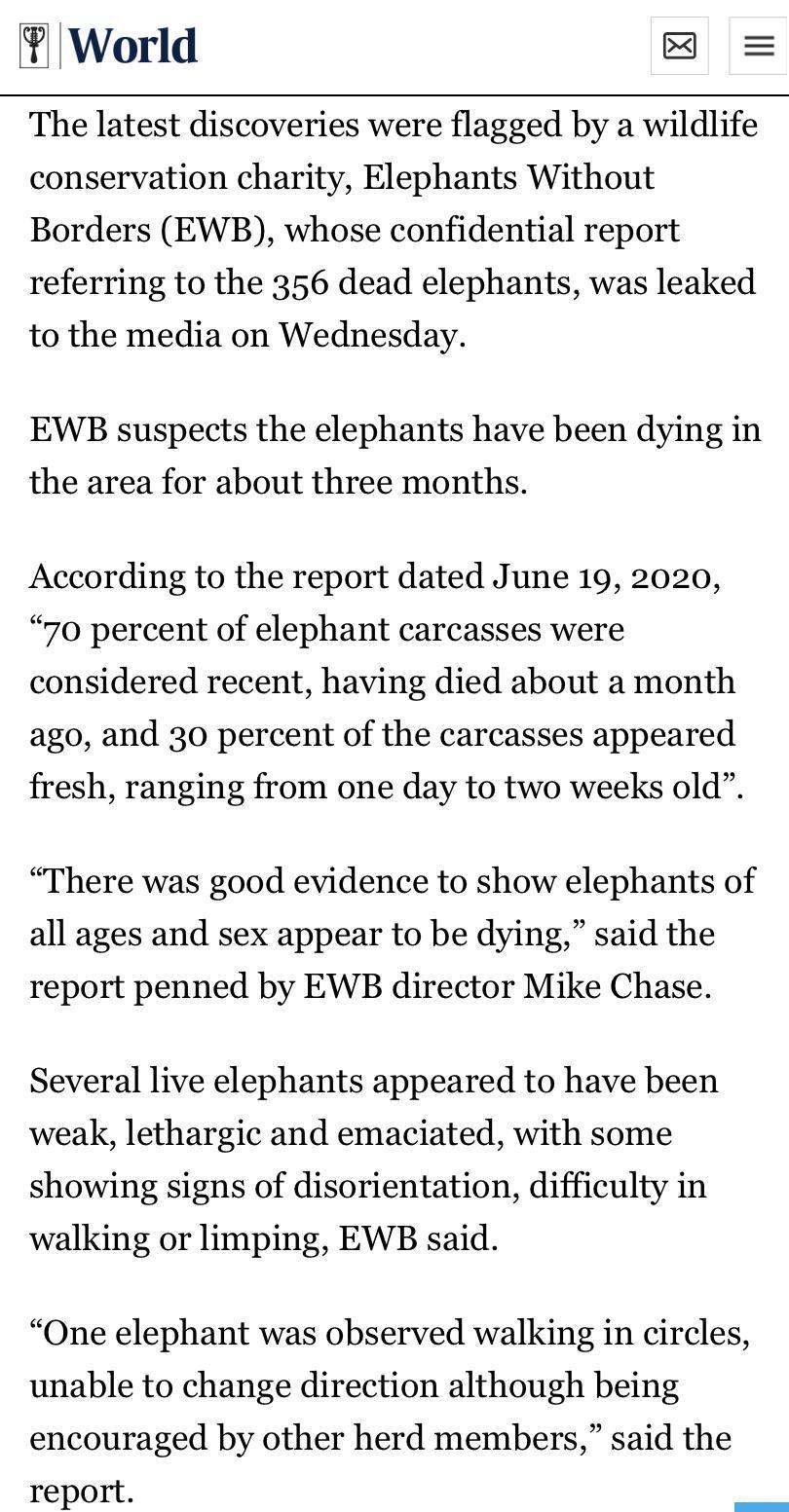 """数百头非洲象离奇死亡,如今终于""""破案""""!真相是..."""