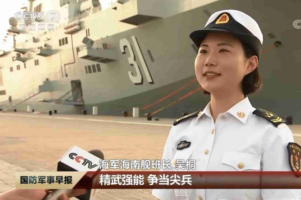 强烈暗示!官媒热捧海南舰女班长 她的名字亮了