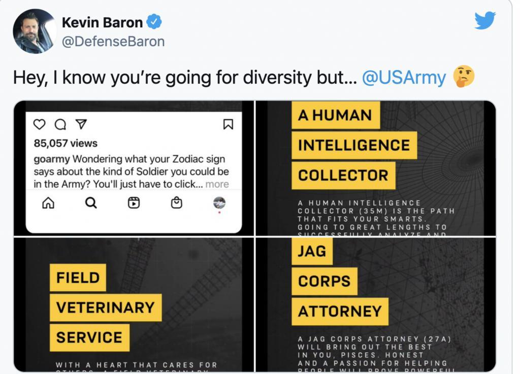 用星座决定在军队中的角色?美国陆军新广告让网友惊了