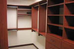 Closet Systems by We Organize-U walk in or reach in closets