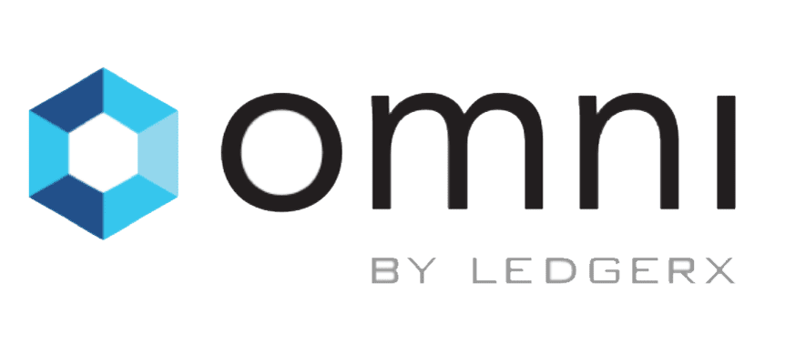 image showing omni logo of LedgerX: first physically-settled bitcoin futures