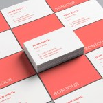 Carte de visite Red by WePrint (2)