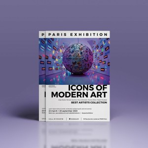Flyer Exposition d'art by WePrint (2)