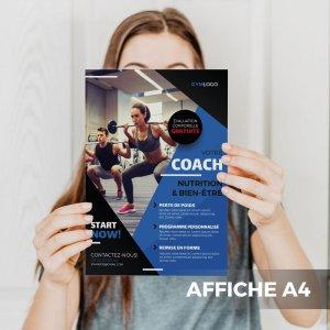 Affiche A4 Fitness Salle de sport WePrint