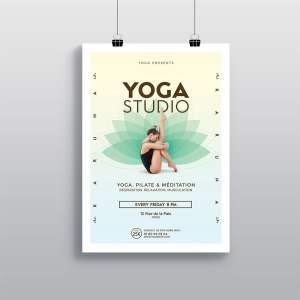 Affiche Yoga et Pilates WePrint