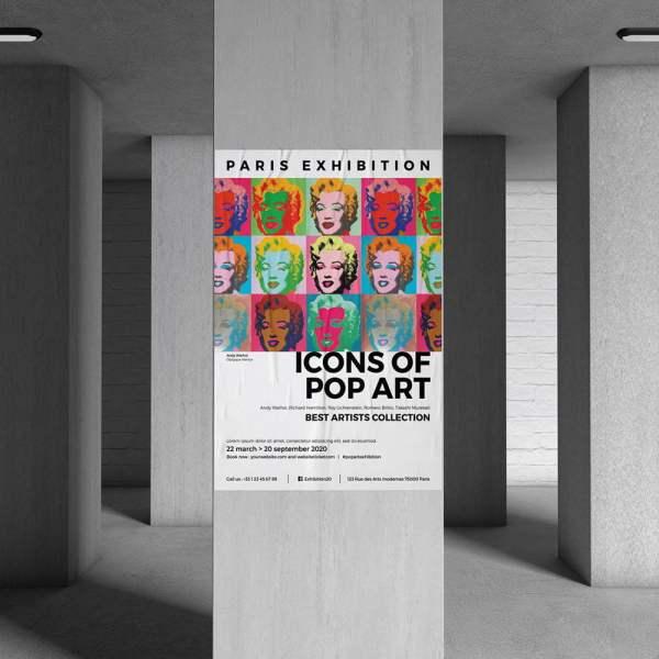 Affiche publicitaire gallerie d'art musée WePrint
