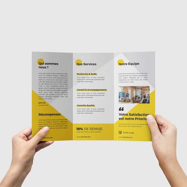 Dépliant 3 volets Business by WePrint