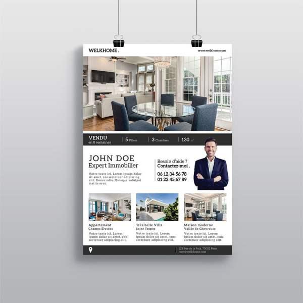 Affiche Agence Immobilière WePrint