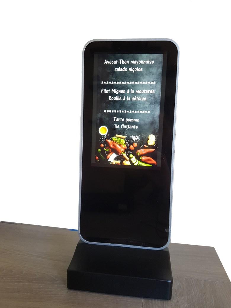 Ardoise numérique de table, présentoir numérique