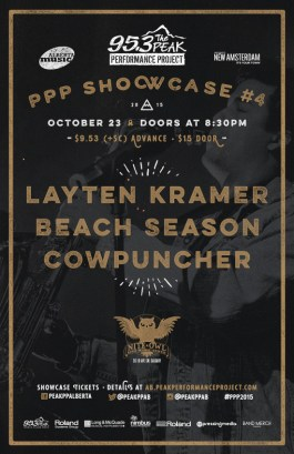 PPP Showcase #4 – October 23, 2015 w/ Layten Kramer and Beach Season