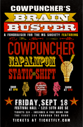 Cowpuncher's Brain Buster for MS ft. Napalmpom and Static Shift - Sept 18, 2015