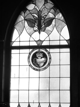 Stained glass in the church - Recording 'Call Me When You're Single' - January 6-13, 2011