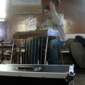 Shawn Canning on Pedal Steel - Recording 'Call Me When You're Single' - January 6-13, 2011