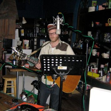Matt behind the counter! Recording 'Call Me When You're Single' - January 6-13, 2011