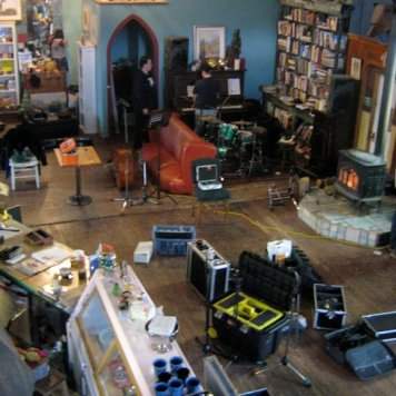 The room from the choir loft - Recording 'Call Me When You're Single' - January 6-13, 2011
