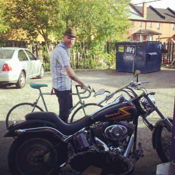 Matt rides. Recording Ghost Notes - September 13-16, 2012