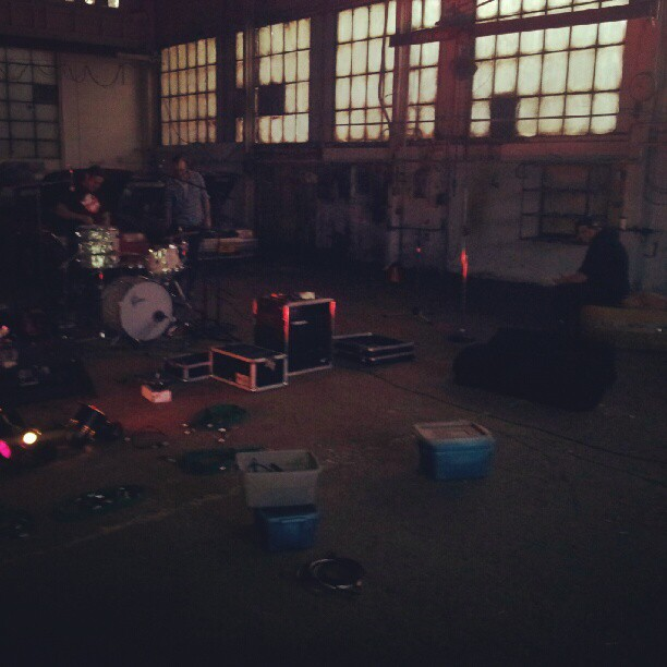Night shot of the shop. Recording Ghost Notes - September 13-16, 2012
