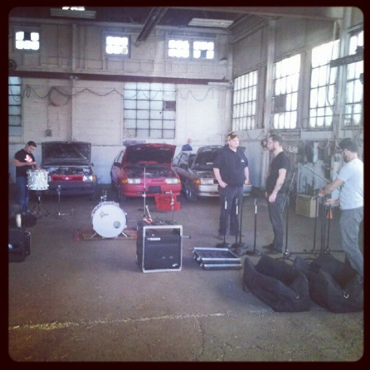 Setting up the machine shop. Recording Ghost Notes - September 13-16, 2012