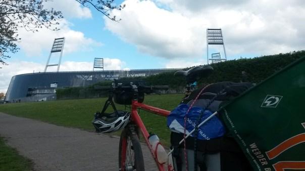 Am Weserstadion angekommen!