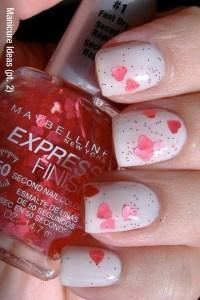 cute vday nails
