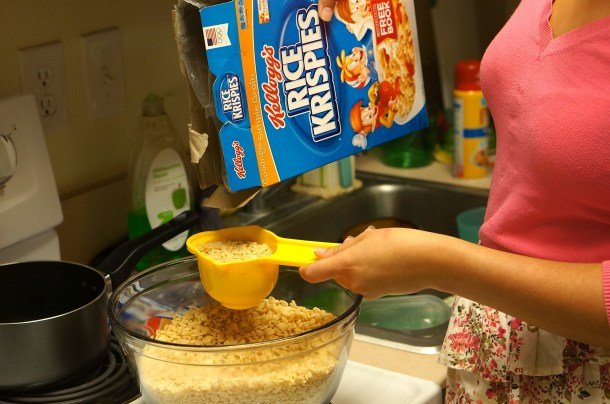measure rice krispies