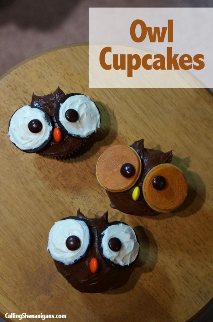 Pinterest Owl Cupcakes