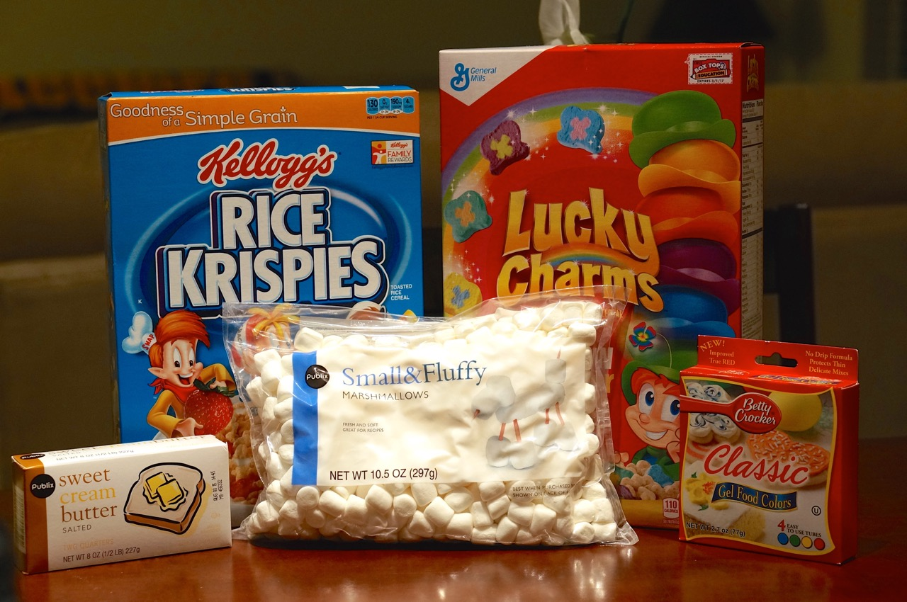 Lucky Charms Rice Krispie Treats - We\'re Calling Shenanigans