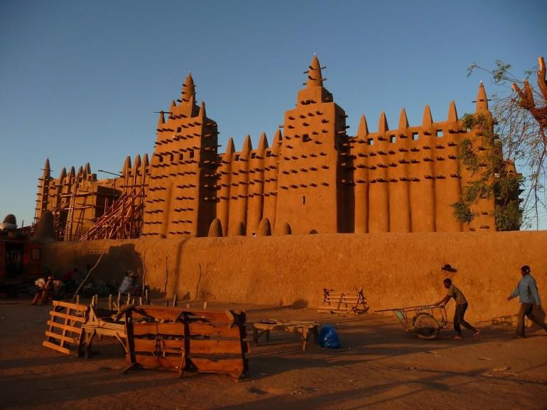 Lemen bakstenen Moskee, Djenne, Mali