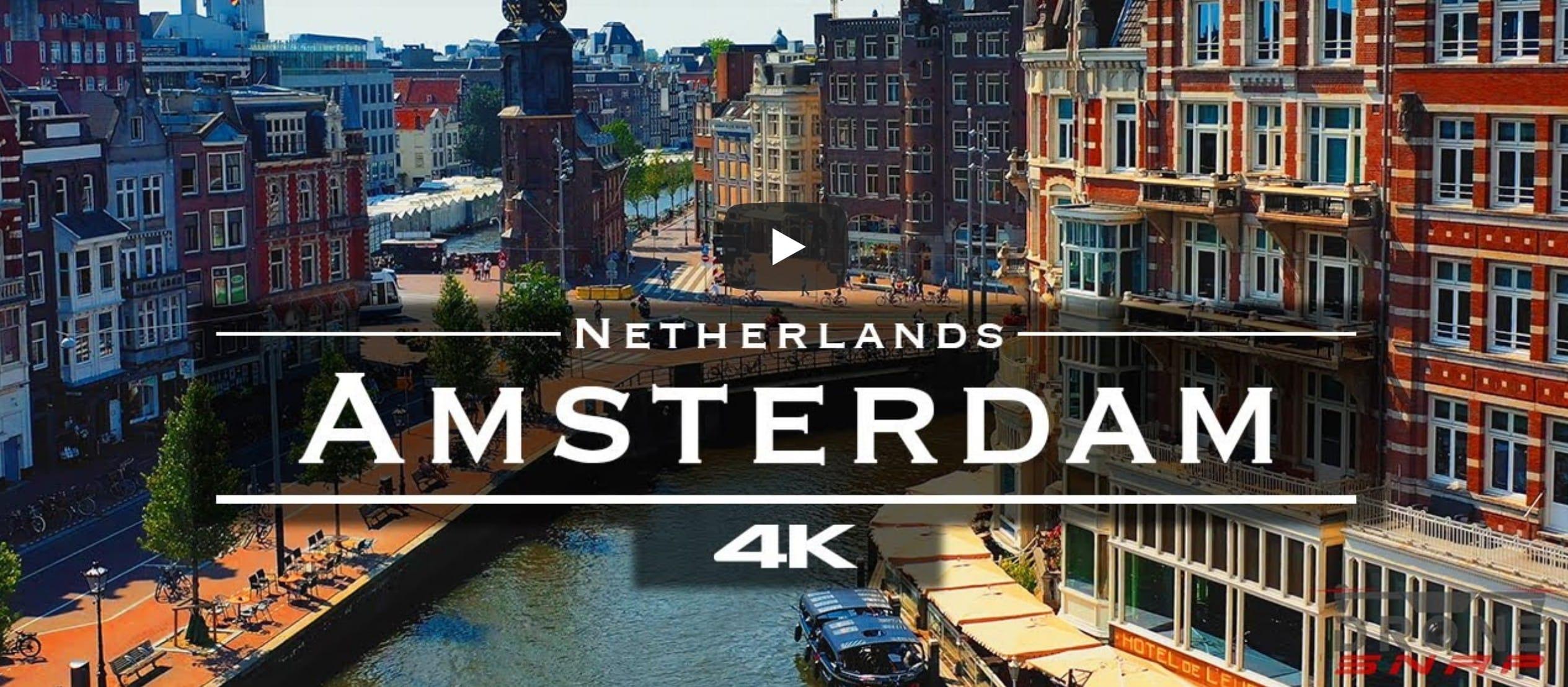 Amsterdam vanuit de lucht (met een drone) in 4K via @wereldreizigersnl
