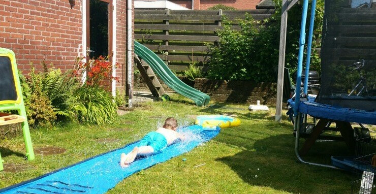 diy waterslide