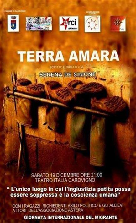 Brindisi, migranti in scena con Terra Amara