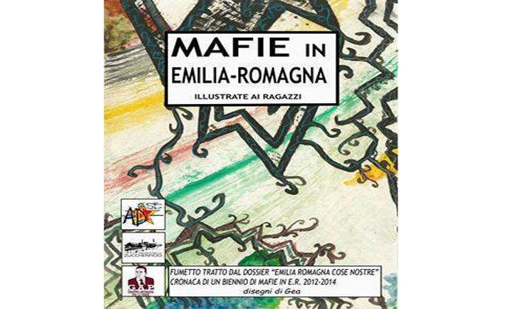 La copertina del fumetto Mafie in Emilia Romagna