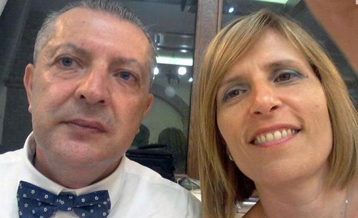 La foto della coppia tratta dal profilo Facebook dell'uomo