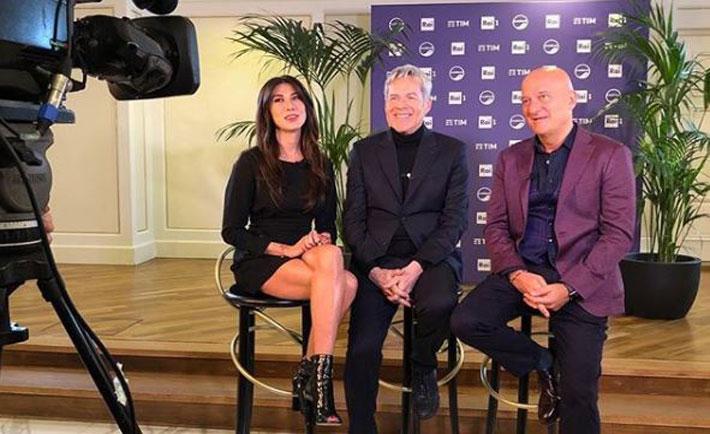 Virginia Raffaele, Claudio Baglioni e Claudio Bisio - Sanremo 2019