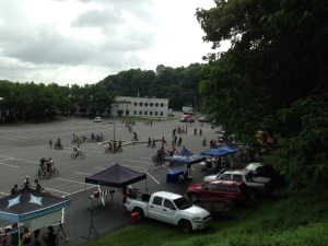 Expo area for the Steel City Enduro.