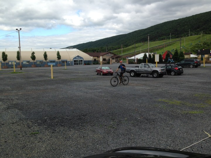 Jonny G rolling in after riding 39.5mi w/11,573ft in elevation!