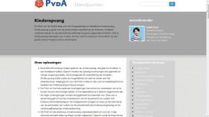 Screenshot website PvdA per 04-09-2013