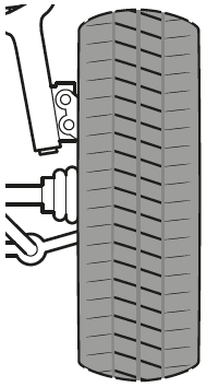 Reifenverschleiß an Außen-und Innenseite